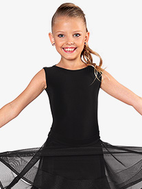 Dance America - Girls Tie Back Tank Ballroom Leotard