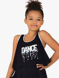 "Bloch - Girls ""Dance"" Contrast Trim Tank Dance Top"