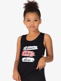 "Bloch - Girls ""Dream Play Shine"" Knot Back Dance Tank Top"