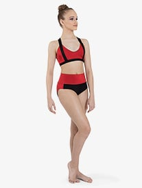 "Ilogear - Womens ""Kaylee"" Ruby Contrast Dance Briefs"