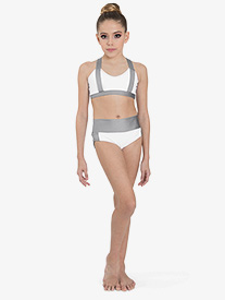 "Ilogear - Womens ""Kaylee"" White Contrast Dance Briefs"