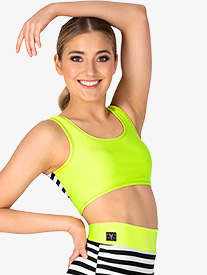 "Kandi Kouture - Girls ""Peek-A-Boo"" Front Cutout Tank Dance Crop Top"