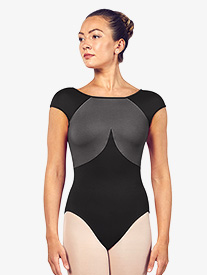 "Bloch - Womens ""Dhara"" Two-Tone Scoop Back Short Sleeve Leotard"