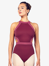 "Bloch - Womens ""Shreya"" Two-Tone Back Cutout Halter Leotard"