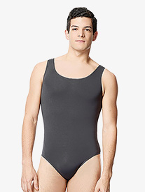 "Lulli - Mens ""Tayelor"" Microfiber Scoop Neck Tank Leotard"