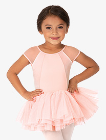 Mirella - Girls Velvet Open Bow Back Tank Ballet Tutu Dress