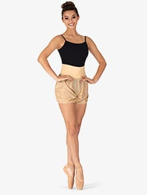 Mirella - Womens Roll-Over Ripstop Dance Shorts