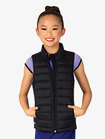 Mariia - Girls Sleeveless Puffy Warm-Up Vest