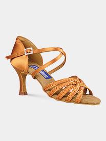 "Dance America - Womens ""Miami"" Braided Strappy Latin Ballroom Dance Shoes"