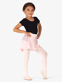 Mirella - Girls Velvet Waistband Wrap Pull-On Ballet Skirt