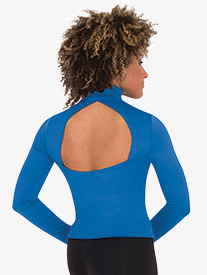 Body Wrappers - Womens Mock Neck Long Sleeve Dance Top