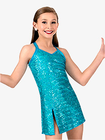 Double Platinum - Girls Sequin Tank Performance Dress Set