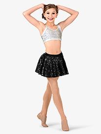 Double Platinum - Girls Sequin Skater Performance Skirt