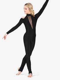 Double Platinum - Womens Performance Shoulder Cutout Stirrup Unitard