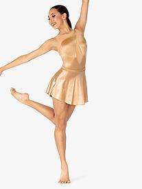 Double Platinum - Womens Performance Satin Pull On Skirt