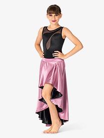 Double Platinum - Girls Performance Satin Reversible Skirt
