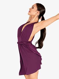 Double Platinum - Womens Twisted Strap Tank Lyrical Dress