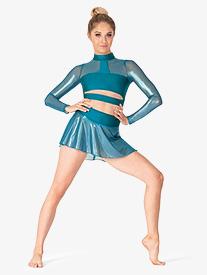 Double Platinum - Womens Performance Ultra Sheen Mesh Pull-On Skirt