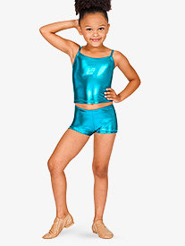 Natalie - Child Metallic Dance Shorts