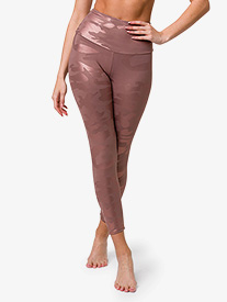 Onzie - Womens Foil High-Rise Midi Workout Leggings