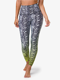 Onzie - Womens Graphic High-Rise Midi Workout Leggings
