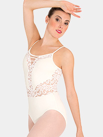 Body Wrappers - Girls Tiler Peck Lace Insert Camisole Leotard