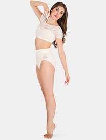 Body Wrappers - Girls Tiler Peck Lace Dance Briefs