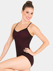 Body Wrappers - Womens Tiler Peck Mesh Overlay Camisole Leotard