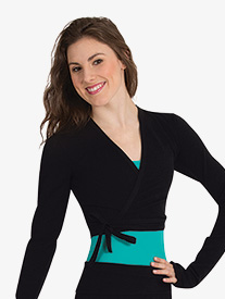 Body Wrappers - Womens V-Front Long Sleeve Warm Up Top