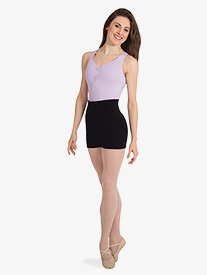 Body Wrappers - Womens Roll-Down Waist Dance Shorts