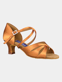 "Dance America - Womens ""Phoenix"" Open Toe Latin Ballroom Dance Shoes"