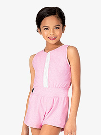 "Kandi Kouture - Girls ""Sporty Shorty"" Back Keyhole Dance Romper"