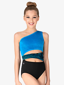 "Kandi Kouture - Womens ""Diva"" One Shoulder Tank Leotard"