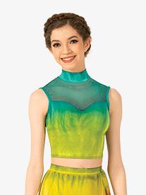 Watercolour - Womens Hand Painted Tank Dance Crop Top