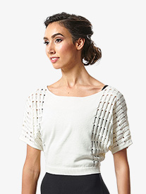 "Bloch - Womens ""Tatiana"" Textured Knit Short Sleeve Sweater"