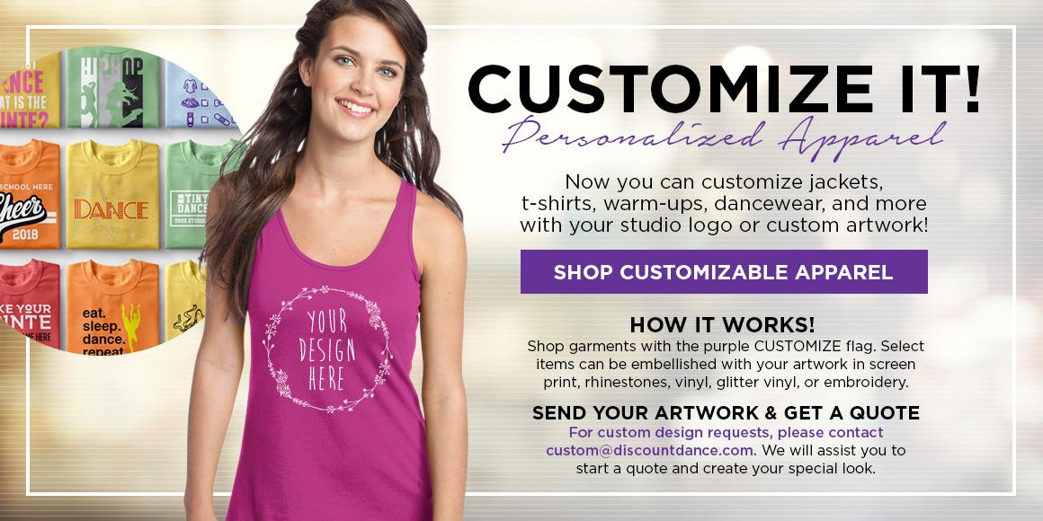 Personalized apparel ad block