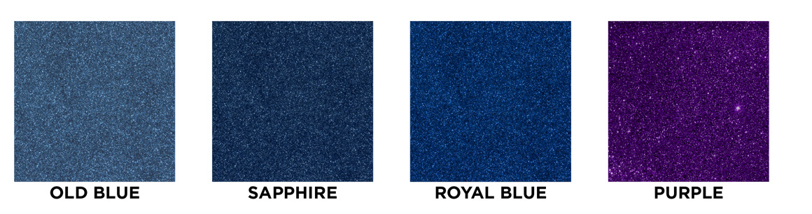 Old blue, sappaire, royal blue, purple swatch images