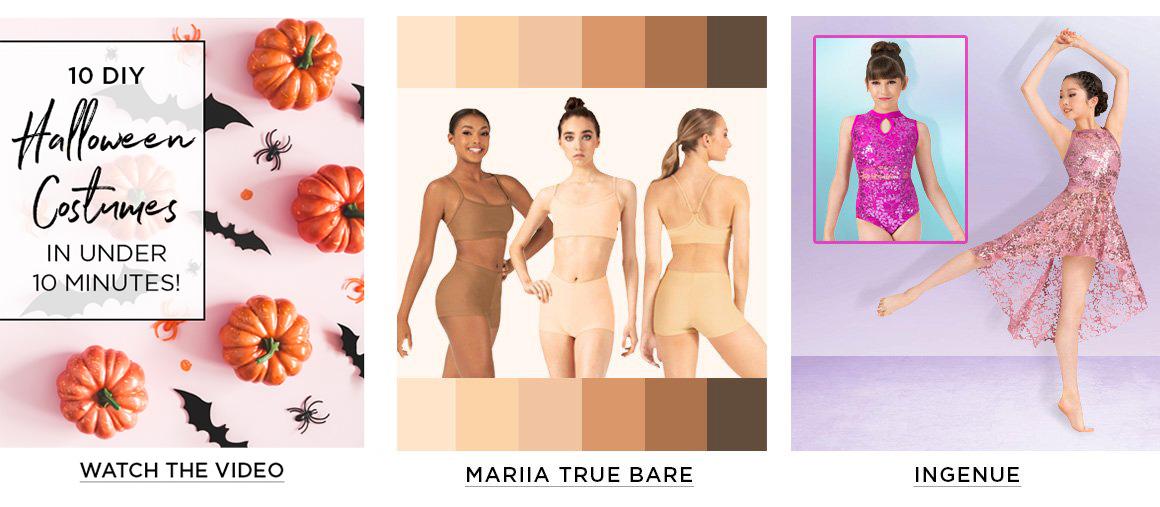 ads for brands: Ella, Mariia True Bare, and Ingenue